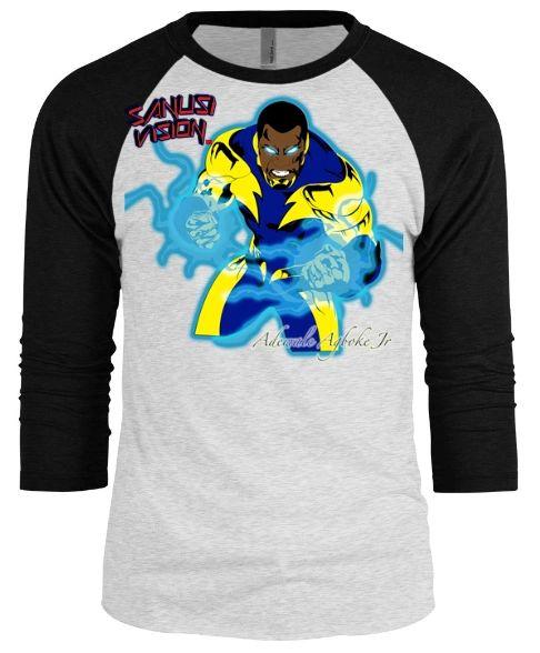 Black Lightning baseball long sleeve tshirt