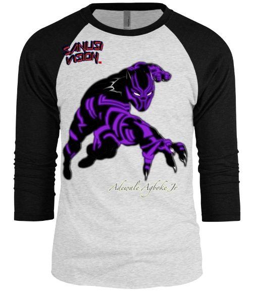 Black Panther baseball long sleeve tshirt