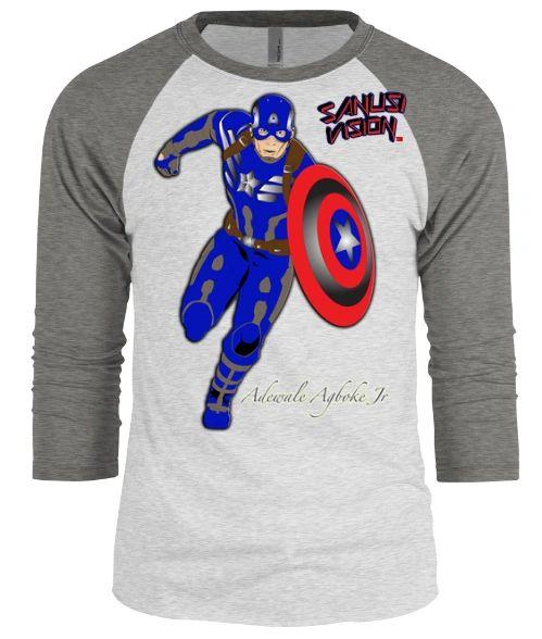 Captain America baseball long sleeve tshirt