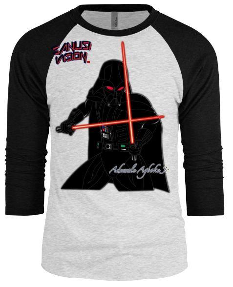 Darth Vader baseball long sleeve tshirt