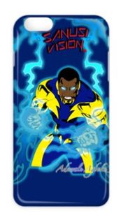 Black Lightning phone case