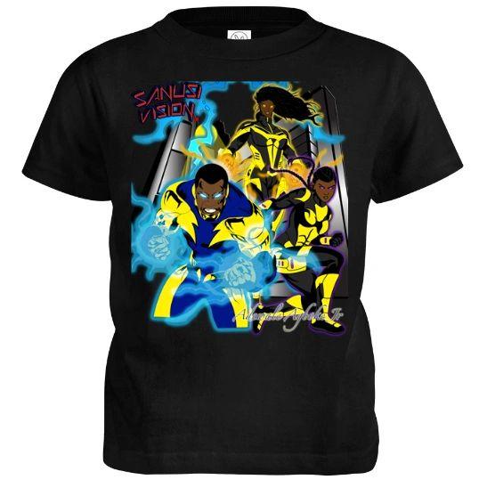 Black Lightning kids tshirt