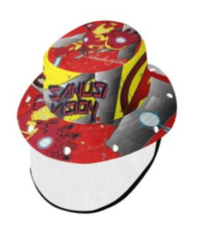 Ironman bucket hat with face shield