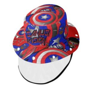 Captain America2 bucket hat with face shield