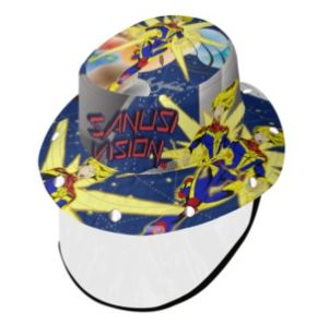 Captain Marvel bucket hat with face shield