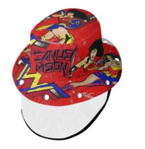 Wonder Woman2 bucket hat with face shield