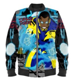 Black Lightning bomber jacket
