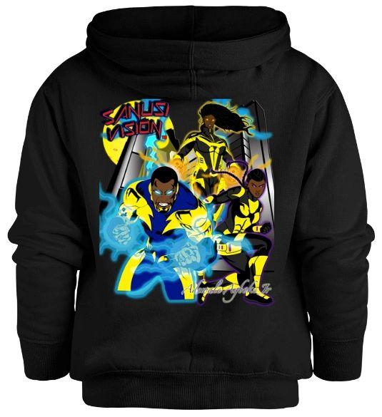 Black Lightning kids hoodie