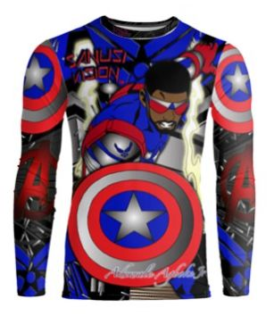 Captain America2 long sleeve tshirt