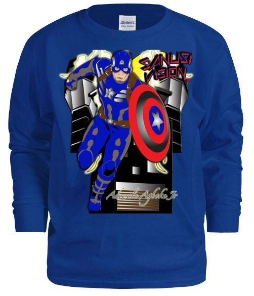 Captain America kids long sleeve tshirt