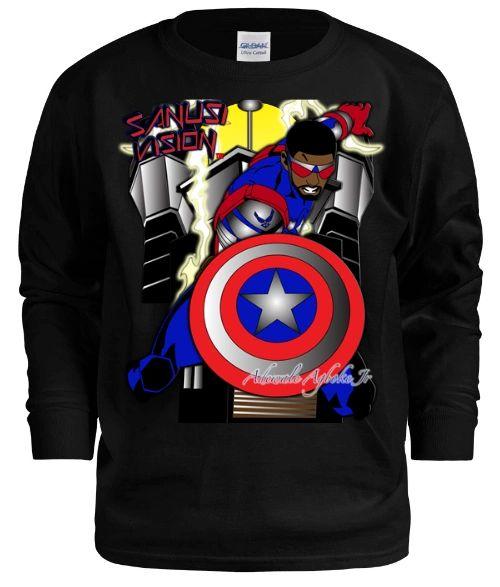 Captain America2 kids long sleeve tshirt