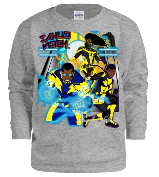 Black Lightning kids long sleeve tshirt