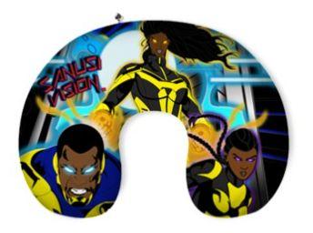 Black Lightning travel neck pillow