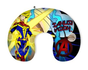 Captain Marvel travel pillow