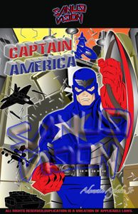 Captain America(Classic) 24in X 36in poster