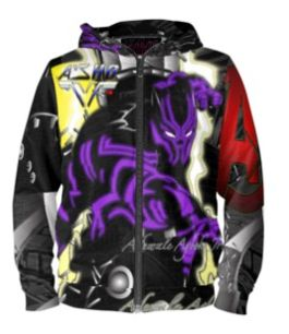 Black Panther limited edtion custom hoodie