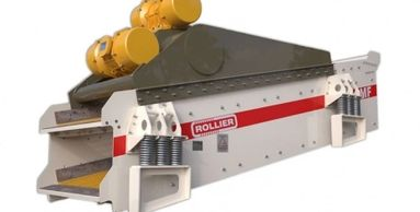 Rollier vibrating screener feedes grizzly conveyors destoner densimetric separation dewatering scree