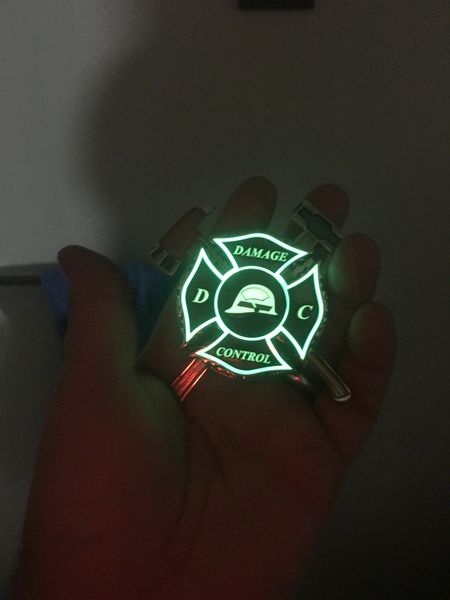 US NAVY Electricians mate rate challenge coin spinner glow in the dark greenCpo