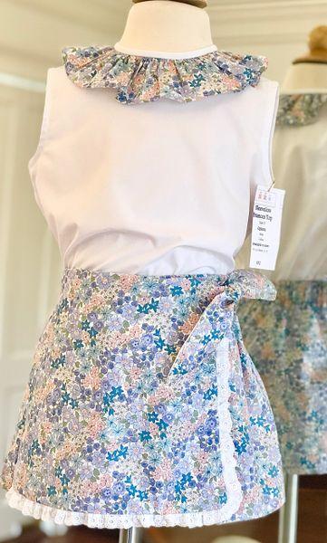 Size 4 2pc SL Frances Top & Wrap Skirt