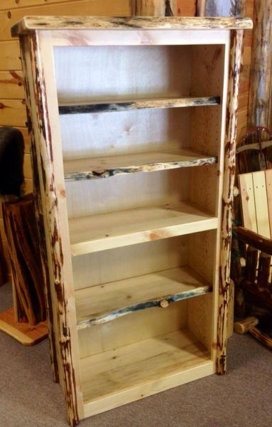Bookcase Custom Handmade Log Furniture
