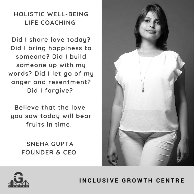Sneha Gupta, Founder & CEO, IGCentre For Mind, Body and Soul, Holistic Well-being Life Coaching