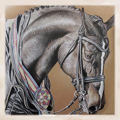 Dressage Horse Cashmere Scarf