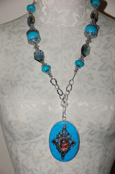 Turquoise-Tone Pendant