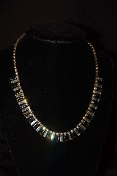Black & White Rhinestone Necklace