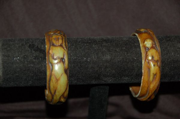 Carved Stone Bracelets