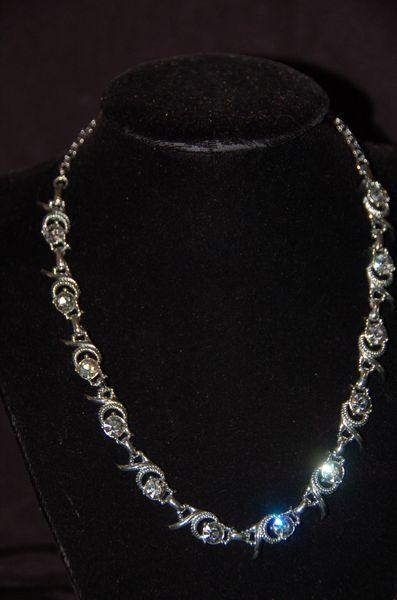 Silver-Tone Rhinestone Necklace