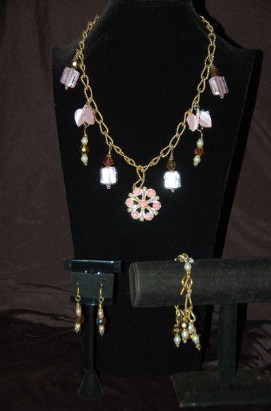 Pink & Gold-Tone Set