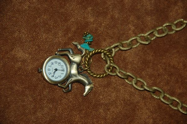 Horse Watch with Turquoise
