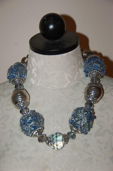 Mesh Balls, Blue & Silver