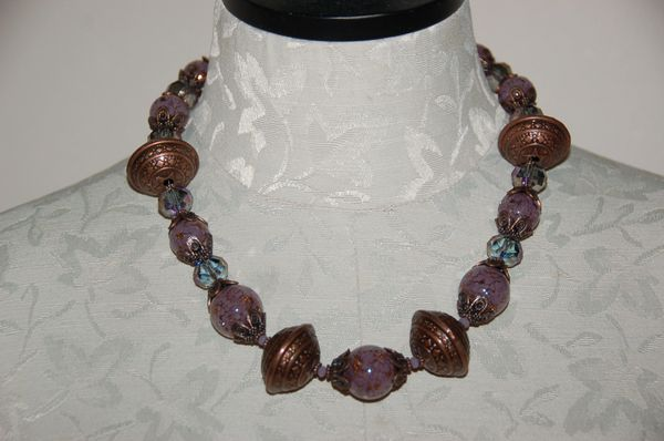 Copper Tones with Purple Crystals
