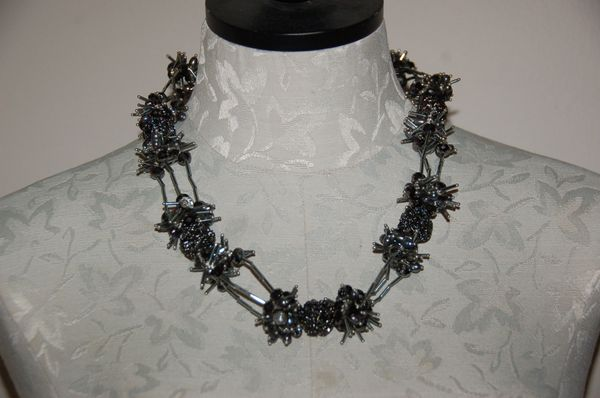 Black Crystals & Fresh Water Pearls
