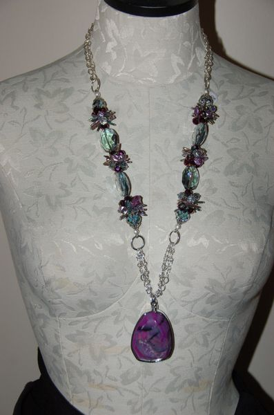 Purple Pearls with Druzy