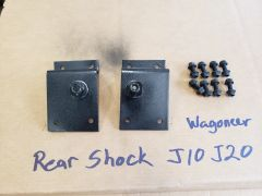 J10 J20 Wagoneer Cherokee SJ Rear Shock relocation brackets to prevent shock binding after lift