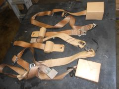 Wagoneer Tan seat belts--Not a complete set