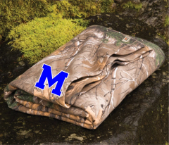 Russell Camo Blanket With Royal M