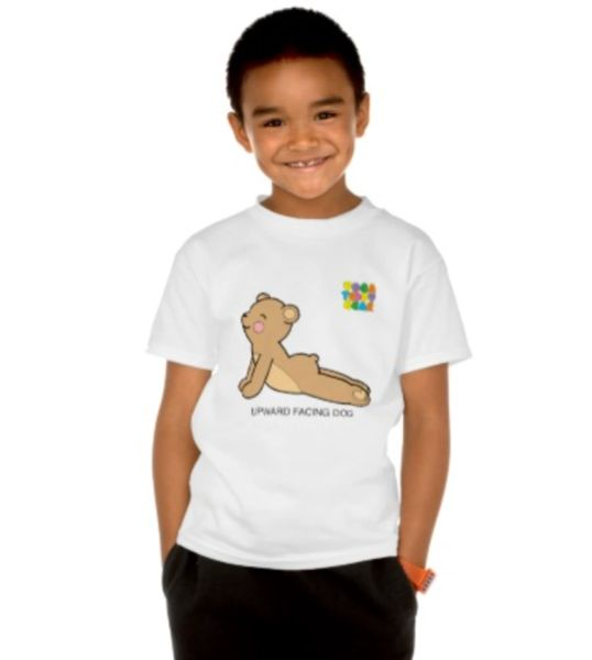 "Yoga Teddy Bear ""Upward Dog / Downward Dog"" Kids T"
