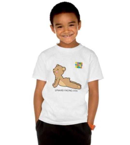 """Yoga Teddy Bear """"Upward Dog / Downward Dog"""" Kids T"""