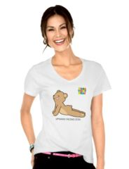 "Yoga Teddy Bear ""Upward Dog / Downward Dog"" V-neck T-Shirts"