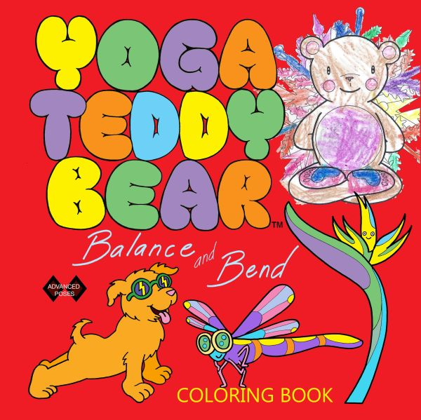 Yoga Teddy Bear Balance & Bend Coloring Book