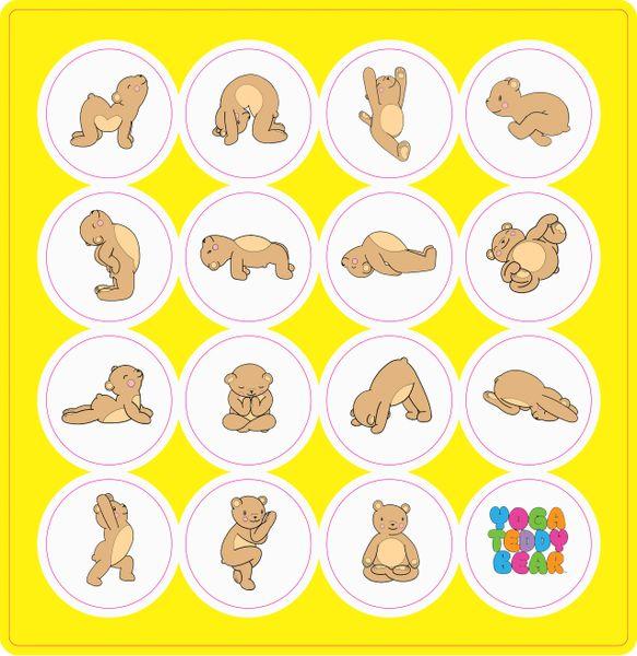 Yoga Teddy Bear Sticker Sheets