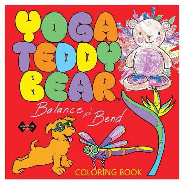 6+ Yoga Teddy Bear Balance & Bend Coloring Book