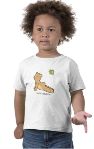 """Yoga Teddy Bear """"Upward Dog / Downward Dog"""" Toddler T-Shirt"""