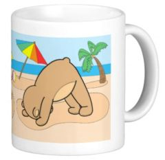 Yoga Teddy Bear Mugs