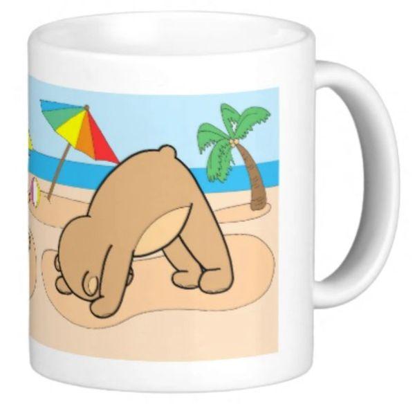 Yoga Teddy Bear Mugs