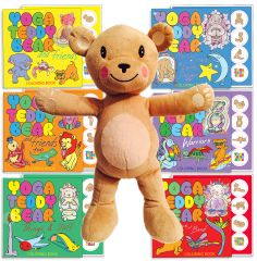 Birthday Special: Yoga Teddy Bear Plush + Book & Sticker of Your Choice