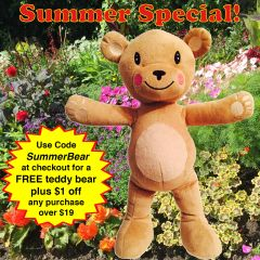 "Yoga Teddy Bear 12"" Limited Edition Plush - FREE with purchase for a limited time"